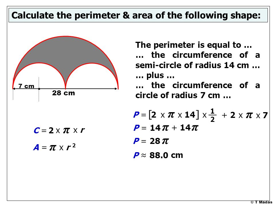 Composite shapes circular parts ppt video online download x calculate the perimeter area of the following shape ccuart Gallery